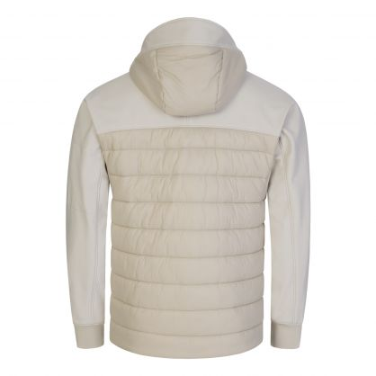 Beige Shell-R Mixed Jacket