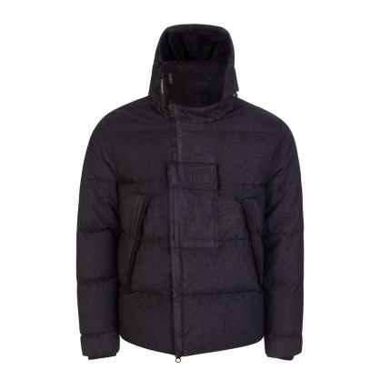 Black Metropolis Series Co-Ted Nylon Down Jacket