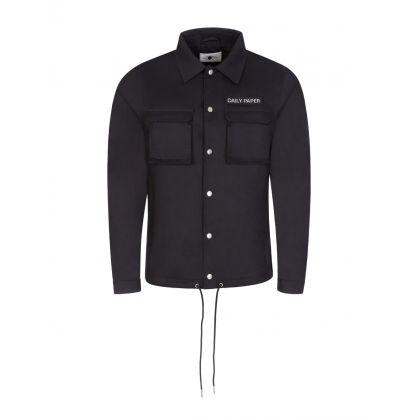 Black Cargo Coach Jacket
