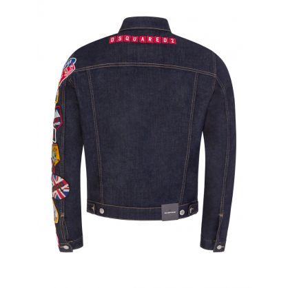 Navy Icon Patch Denim Jacket