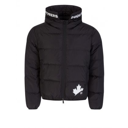 Black Logo Sports Down Jacket