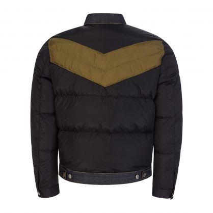 Black/Green Puffer Jacket