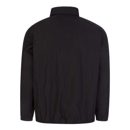Black Lightweight Sleeve Logo Jacket