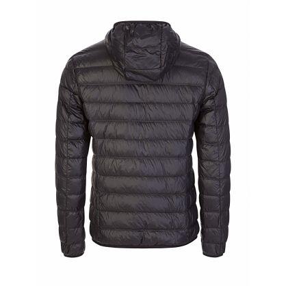 Black Packable Hooded Jacket