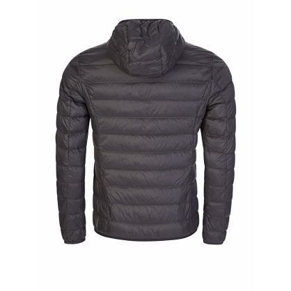 Grey Packable Zip-Through Hooded Jacket