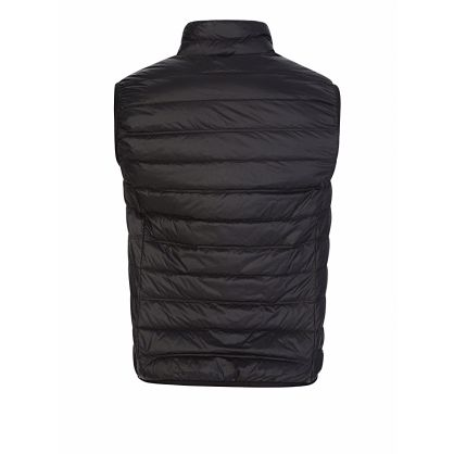 Emporio Armani Black Packable Zip-Through Gilet
