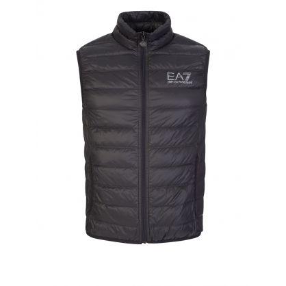 Grey Hooded Packable Gilet