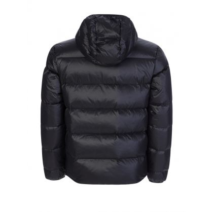Black Puffer Logo Jacket