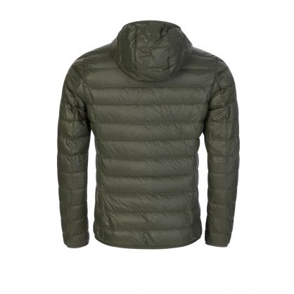 Green Down Filled Hooded Jacket