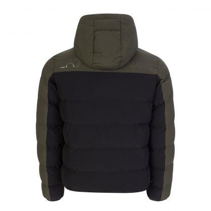 Emporio Armani Black Colour Block Two-Tone Padded Jacket
