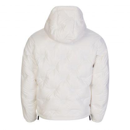 White Shiny Polyester Monogram Jacket