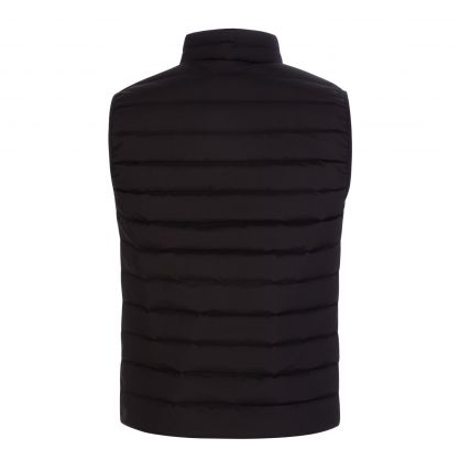 Black Quilted Nylon Down Gilet