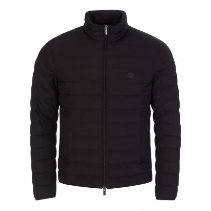 Black Quilted Nylon Down Jacket