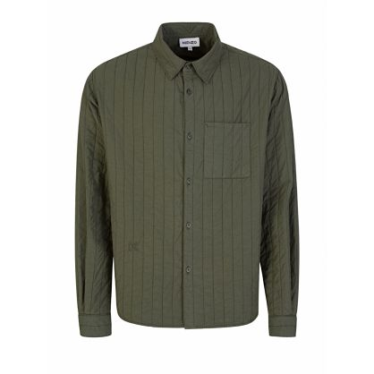 Green Quilted Overshirt