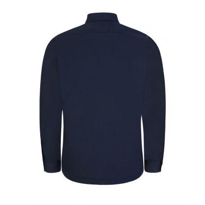 Navy Padded Overshirt