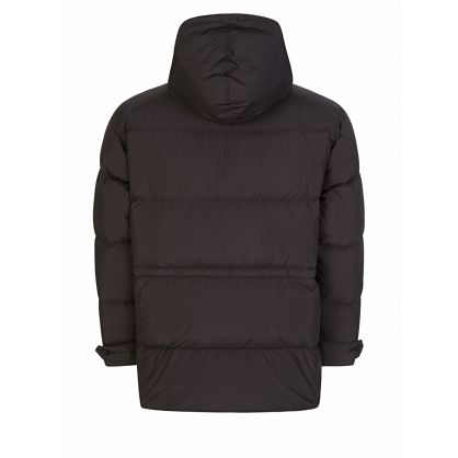 Black Sports 'Little X' Long Parka Jacket