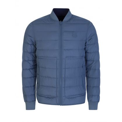 Blue Reversible Quilted Jacket