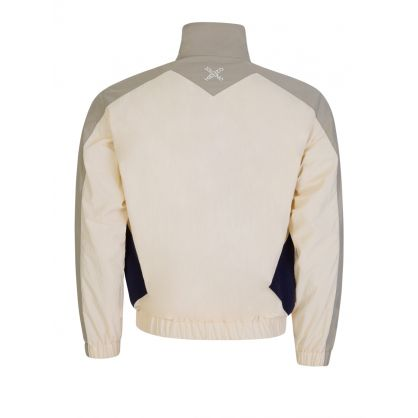 Ecru Sport Windbreaker Jacket