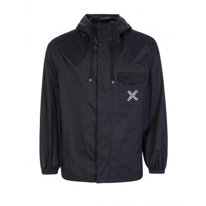 Black Sport Short Scooter Trench/Rain Jacket