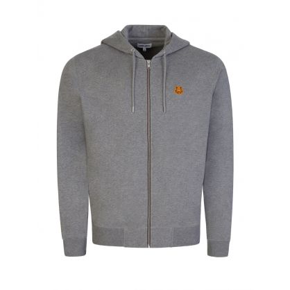 Grey Tiger Crest Zip-Through