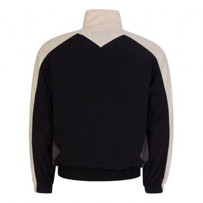 Black Sport Windbreaker Jacket