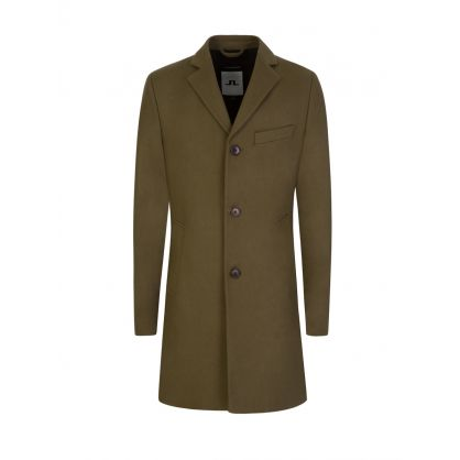 Green Wolger Compact Melton Coat