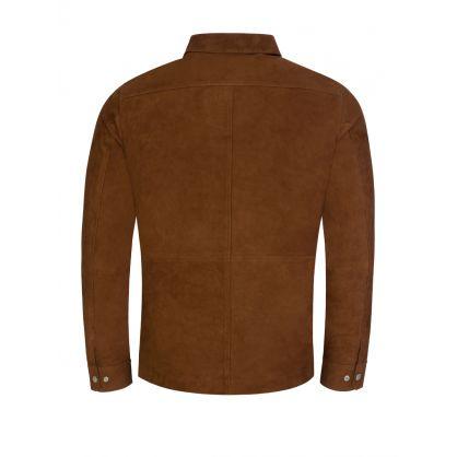 Brown Jonah Suede Overshirt