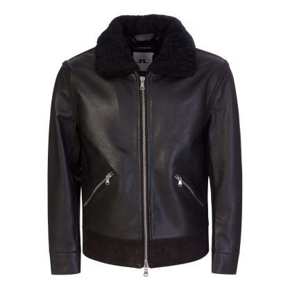 Black Sterling Shearling Jacket
