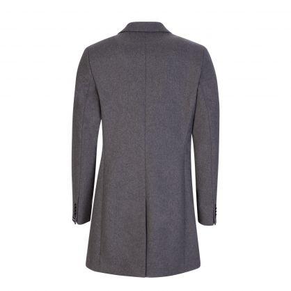 Dark Grey Wolger Compact Melton Coat