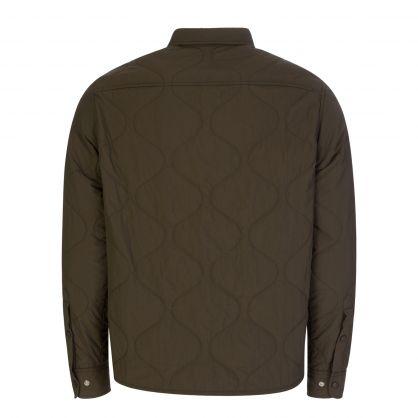 Green Nylon Padded Overshirt