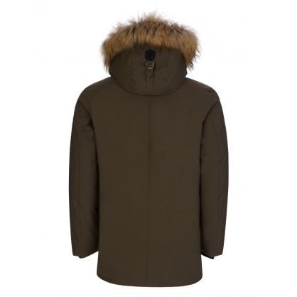 Green Edward-F Fur Hooded Down Coat