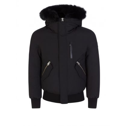 Black Dixon-BX Fur Hooded Bomber Jacket