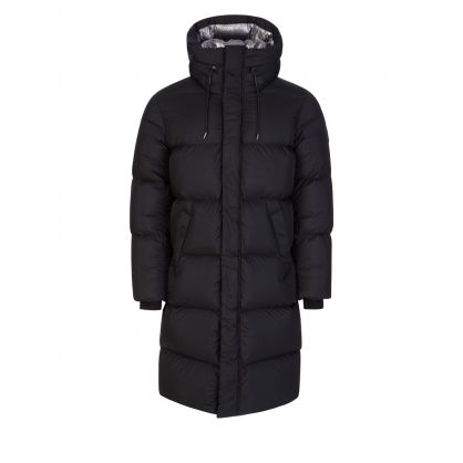 Black Elio Foil Shield Maxi Down Coat