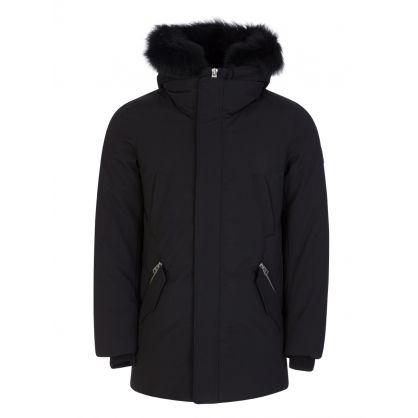 Black Edward-BX Fur Hooded Coat