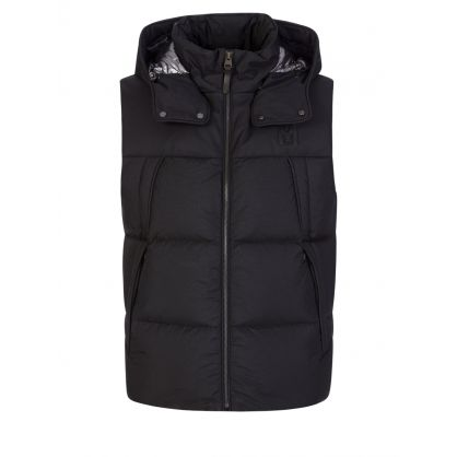 Black Kai Removable Hooded Gilet