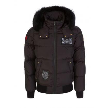 Black/Black Colinton Bomber Jacket
