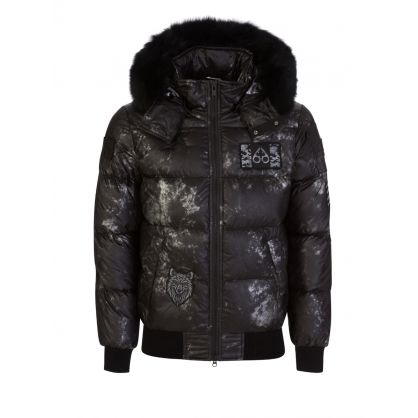 Black Unique Puff Pengarth Bomber Jacket