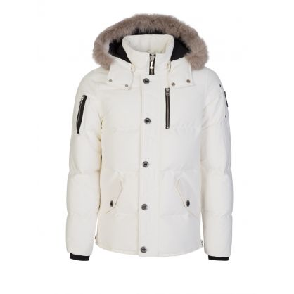 White Slim-Fit 3Q Jacket