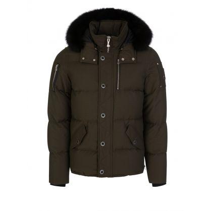 Green Slim-Fit 3Q Jacket