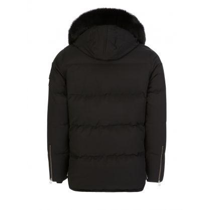 Black Slim-Fit 3Q Jacket