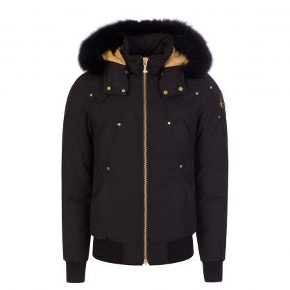 Black Slim-Fit Little Rapids Bomber Jacket