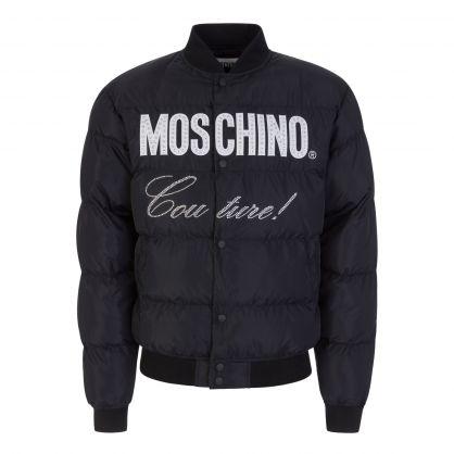 Black Couture Diamante Logo Jacket