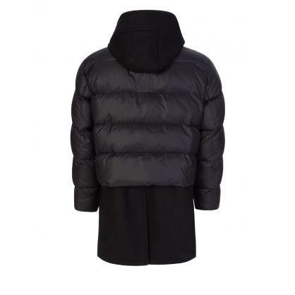 Black Hybrid Puffer Duffle Coat