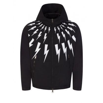 Black Thunderbolt Print Jacket