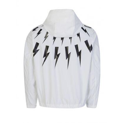 White Thunderbolt Windbreaker Jacket
