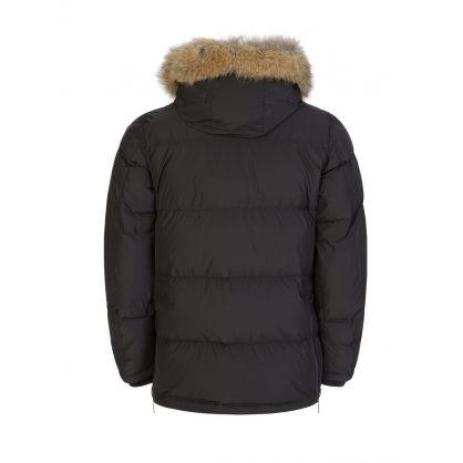 Dark Grey Harraseeket Fur Hooded Jacket