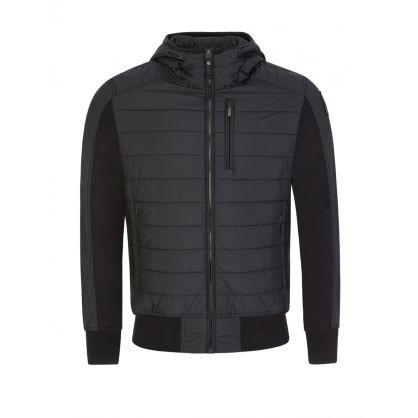 Black Cotton Fleece Gordon Bomber Jacket