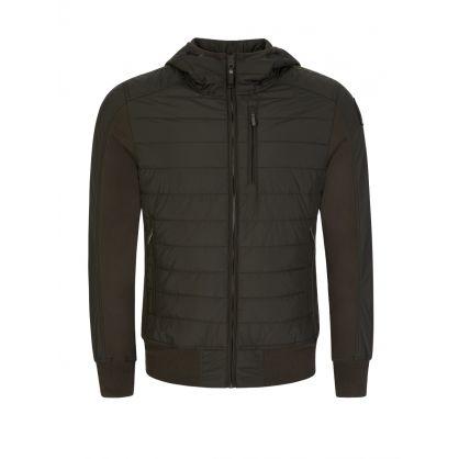 Green Cotton Fleece Gordon Bomber Jacket