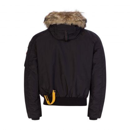 Black Fur Hooded Gobi Jacket