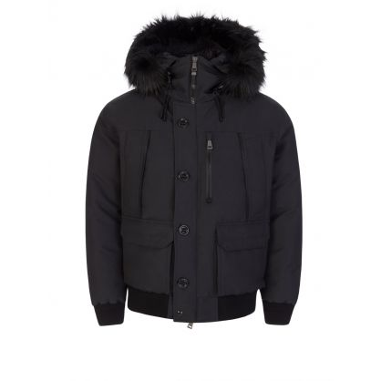 Black RLX Faux-Fur Water-Repellent Down Jacket